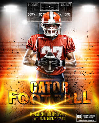SPORTS POSTER PHOTO TEMPLATE - IMPACT FOOTBALL