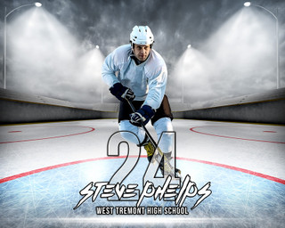 SPORTS POSTER PHOTO TEMPLATE - HORIZONTAL - OUTDOOR HOCKEY