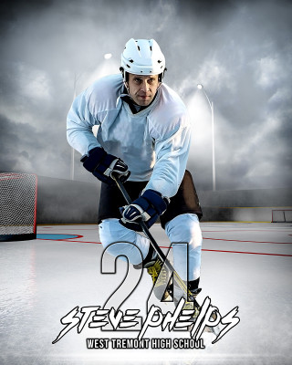 SPORTS POSTER PHOTO TEMPLATE - OUTDOOR HOCKEY