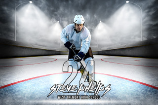 PLAYER BANNER PHOTO TEMPLATE - HORIZONTAL - OUTDOOR HOCKEY