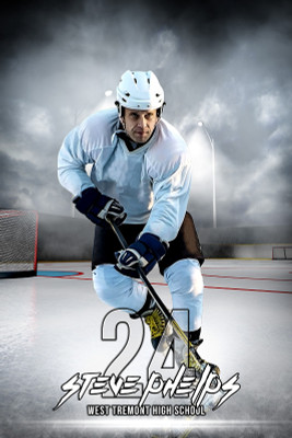 PLAYER BANNER PHOTO TEMPLATE - OUTDOOR HOCKEY