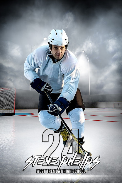 sports team photography templates - player banner sports photo template outdoor hockey
