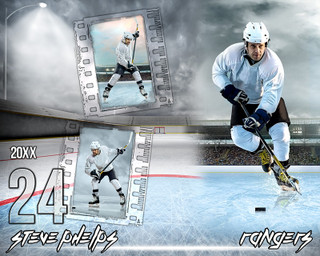 HOCKEY PHOTO COLLAGE - OUTDOOR HOCKEY