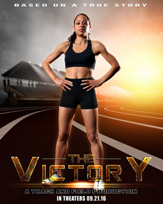 SPORTS POSTER PHOTO TEMPLATE - TRACK SUNRISE
