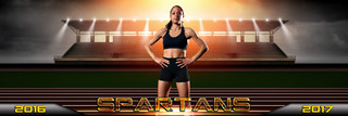 PANORAMIC SPORTS BANNER TEMPLATE - TRACK SUNRISE
