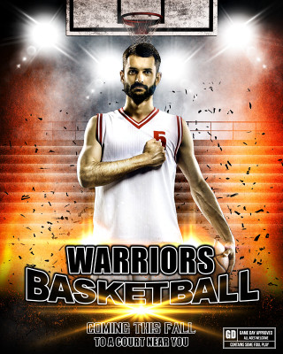SPORTS POSTER PHOTO TEMPLATE - IMPACT BASKETBALL