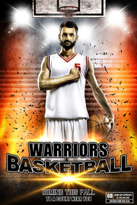 PLAYER BANNER PHOTO TEMPLATE - IMPACT BASKETBALL
