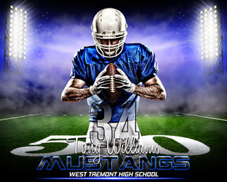 SPORTS POSTER PHOTO TEMPLATE - HORIZONTAL - PRIME TIME FOOTBALL