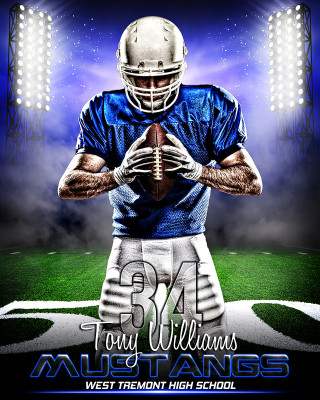 SPORTS POSTER PHOTO TEMPLATE - PRIME TIME FOOTBALL
