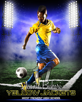 SPORTS POSTER PHOTO TEMPLATE - PRIME TIME SOCCER