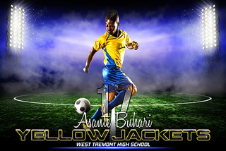 PLAYER BANNER PHOTO TEMPLATE - HORIZONTAL - PRIME TIME SOCCER