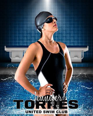 SPORTS POSTER PHOTO TEMPLATE - SWIM
