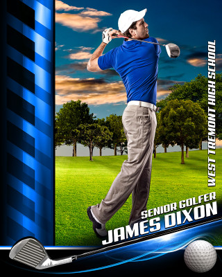 SPORTS POSTER PHOTO TEMPLATE - GOLF