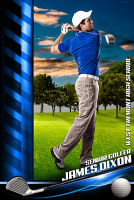 PLAYER BANNER PHOTO TEMPLATE - GOLF