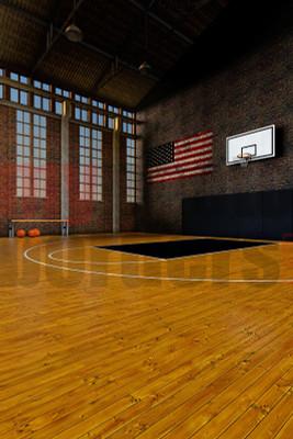 DIGITAL BACKGROUND - OLD SCHOOL BASKETBALL II