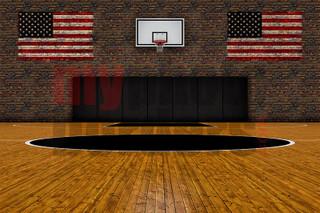 DIGITAL BACKGROUND - OLD SCHOOL BASKETBALL - HORIZONTAL