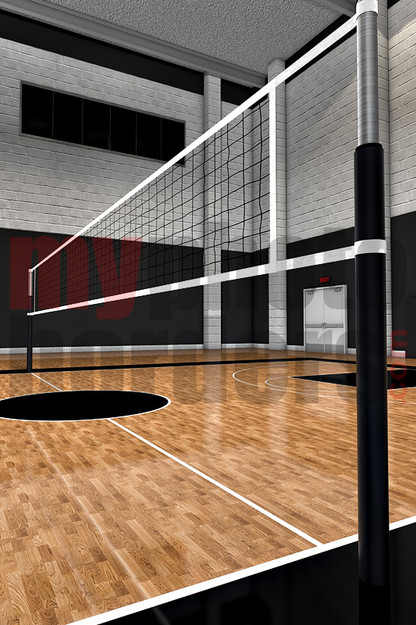 Digital Sports Background - Volleyball Court