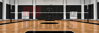 DIGITAL BACKGROUND - VOLLEYBALL COURT - PANORAMIC