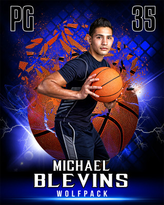 SPORTS POSTER PHOTO TEMPLATE - SHATTERED BASKETBALL