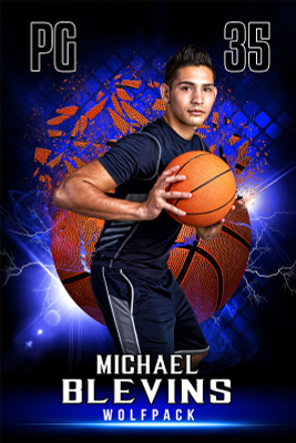 PLAYER BANNER PHOTO TEMPLATE - SHATTERED BASKETBALL