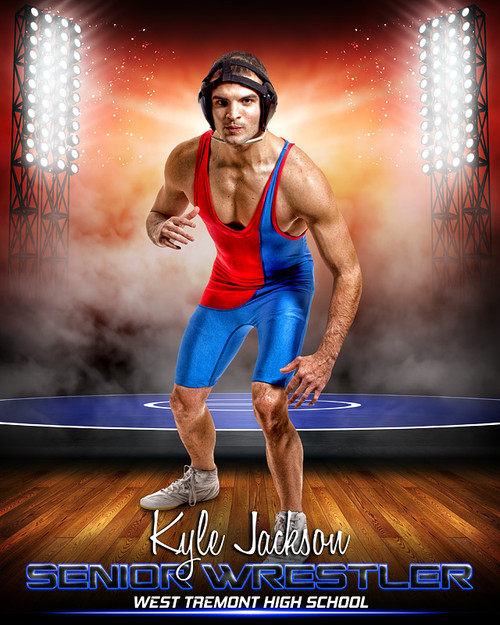 Sports Poster Photo Template For Wrestling Prime Time
