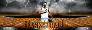 PANORAMIC SPORTS BANNER TEMPLATE - BASKETBALL - DESTRUCTION