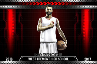PLAYER AND TEAM BANNER PHOTO TEMPLATE - HORIZONTAL -  HI-TECH METAL