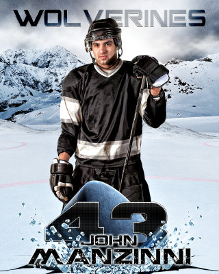 SPORTS POSTER PHOTO TEMPLATE - ICE HOCKEY