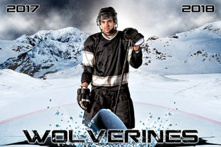 PLAYER BANNER PHOTO TEMPLATE - HORIZONTAL - ICE HOCKEY