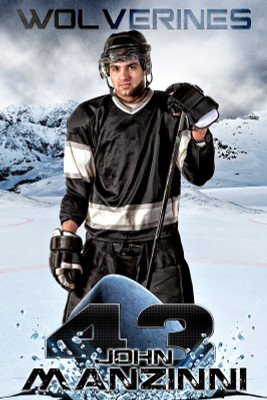 PLAYER BANNER PHOTO TEMPLATE - ICE HOCKEY