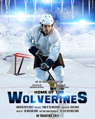 SPORTS POSTER PHOTO TEMPLATE - ICE HOCKEY II