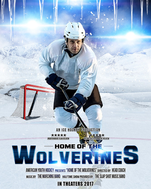sports poster photo template for hockey