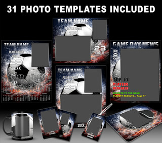 Splash Soccer Photo Template Collection