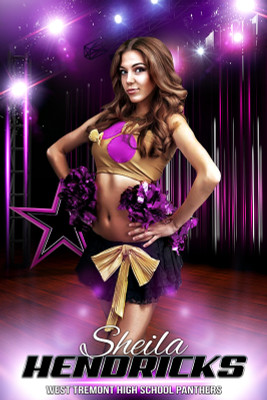 PLAYER BANNER PHOTO TEMPLATE - STAGE PERFORMANCE - CHEERLEADING AND DANCE TEMPLATE