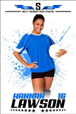 PLAYER BANNER PHOTO TEMPLATE - SPLASH - PHOTOSHOP SPORTS TEMPLATE