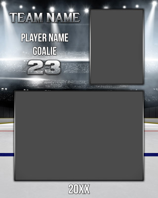 HOCKEY MEMORY MATE - VERTICAL - STADIUM SERIES - PHOTOSHOP SPORTS TEMPLATE