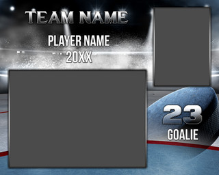 HOCKEY MEMORY MATE - HORIZONTAL - HOCKEY ICE - PHOTOSHOP SPORTS TEMPLATE