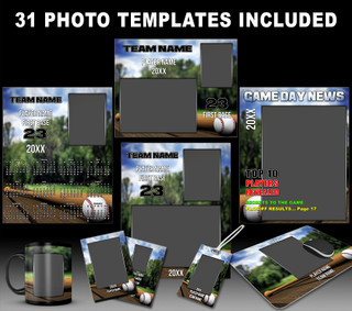 BASEBALL PARK COLLECTION - PHOTOSHOP SPORTS TEMPLATE COLLECTION