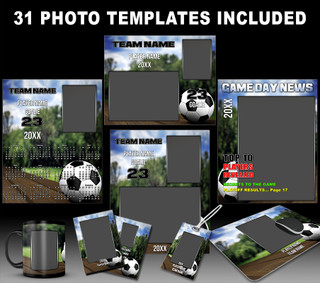 SOCCER PARK COLLECTION - PHOTOSHOP SPORTS TEMPLATE COLLECTION