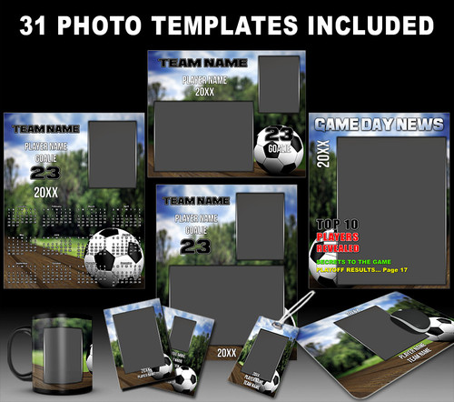 Soccer sports photo templates soccer park collection for Sports team photography templates
