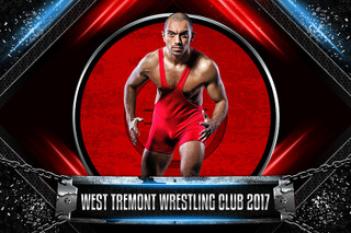 PLAYER BANNER PHOTO TEMPLATE - CHAINED METAL - WRESTLING - PHOTOSHOP SPORTS TEMPLATE