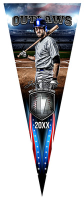 PENNANT PHOTO TEMPLATE - AMERICAN BASEBALL