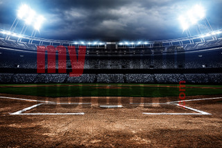 DIGITAL BACKGROUND - AMERICAN BASEBALL - HORIZONTAL