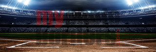 DIGITAL BACKGROUND - AMERICAN BASEBALL - PANORAMIC