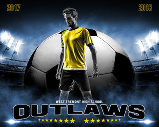 SPORTS POSTER PHOTO TEMPLATE - ALL STAR SOCCER - PHOTOSHOP SPORTS TEMPLATE