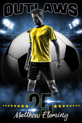 PLAYER BANNER PHOTO TEMPLATE - ALL STAR SOCCER - PHOTOSHOP SPORTS TEMPLATE