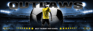 PANORAMIC SPORTS BANNER TEMPLATE - ALL STAR SOCCER - LAYERED PHOTOSHOP SPORTS TEMPLATE