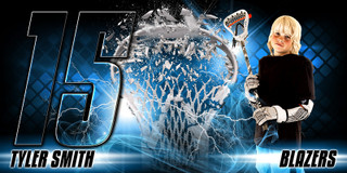 10X20 PHOTO TEMPLATE - SHATTERED LACROSSE - LAYERED PHOTOSHOP SPORTS TEMPLATE