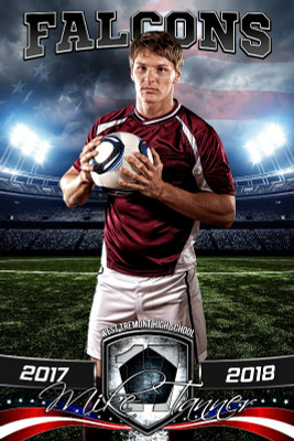 PLAYER BANNER PHOTO TEMPLATE - AMERICAN SOCCER - PHOTOSHOP SPORTS TEMPLATE