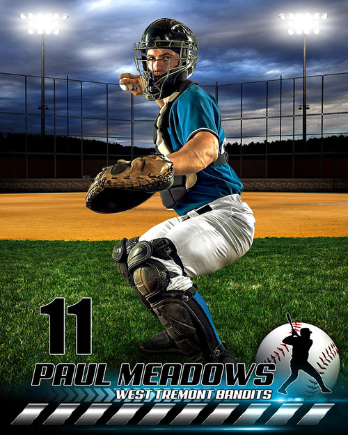 sports team photography templates - sports poster photo template hometown baseball